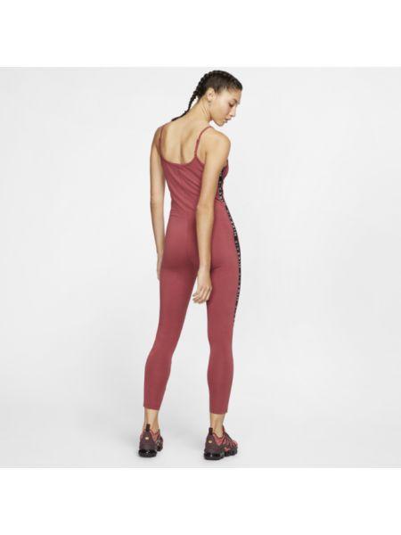 Czerwony sport body w paski Nike