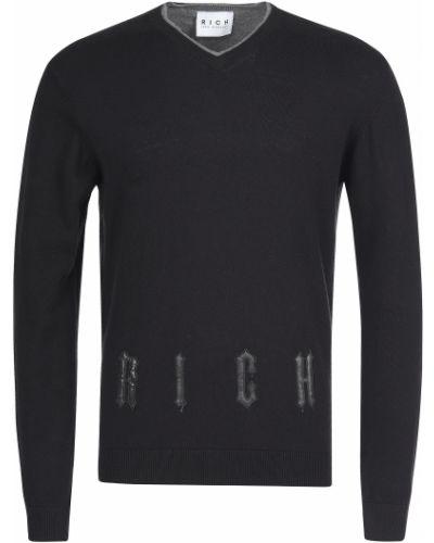 Пуловер шерстяной черный John Richmond