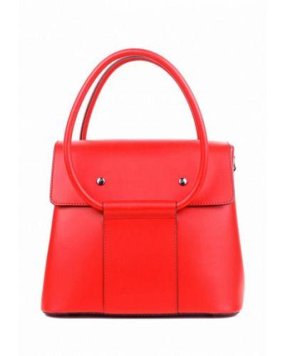 Кожаная сумка - красная Bella Bertucci