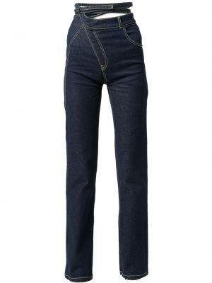 Niebieskie jeansy z paskiem Ottolinger