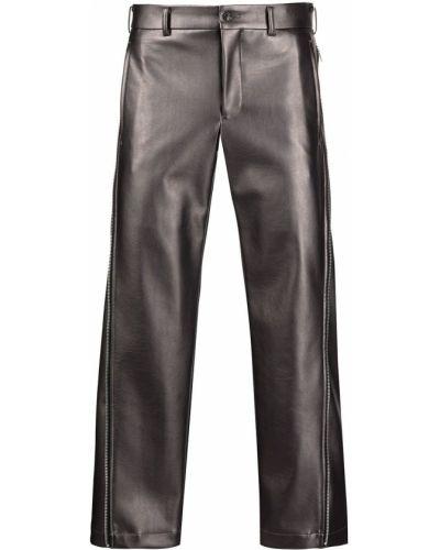 Spodnie skorzane z paskiem Comme Des Garcons Homme Plus