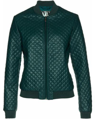 Кожаная куртка с карманами на кнопках Bonprix