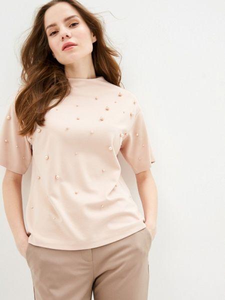 Блузка с коротким рукавом розовая весенний Zarina