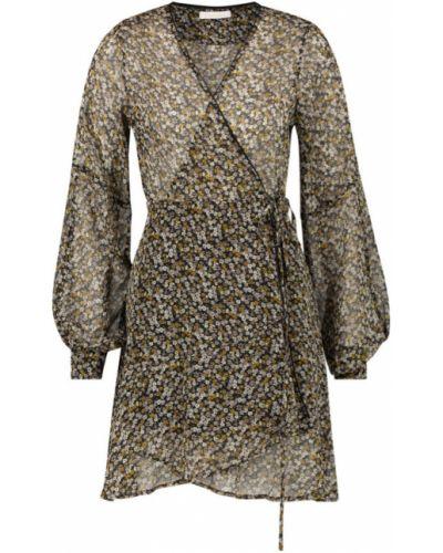 Beżowa sukienka mini materiałowa Freebird