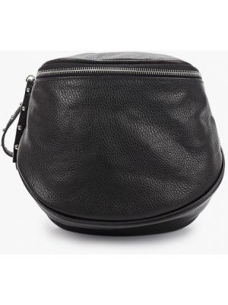 Кожаная сумка через плечо черная Lamania