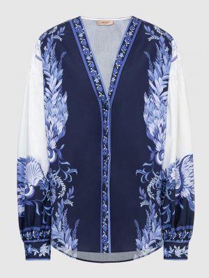 Блузка с принтом - белая Twin-set