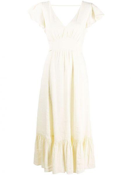 Приталенное платье мини на молнии с оборками с короткими рукавами Masscob