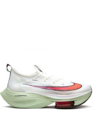 Белые кроссовки на каблуке на шнурках Nike