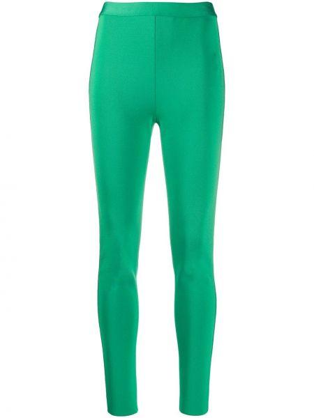 Зеленые облегающие леггинсы на молнии Givenchy