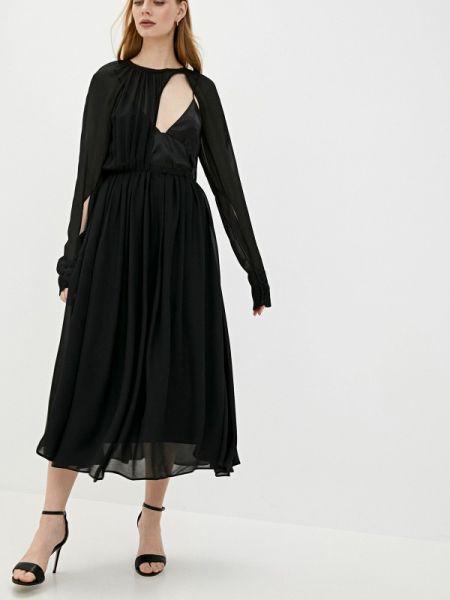 Вечернее платье черное весеннее N21