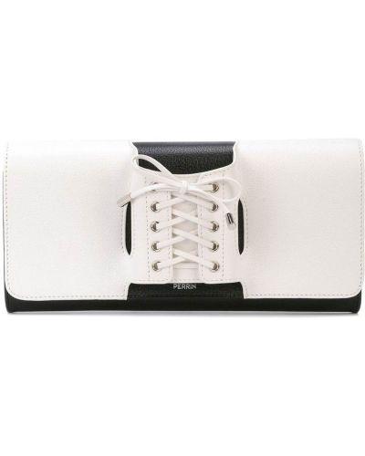 Кожаный белый корсет на шнуровке с карманами Perrin Paris