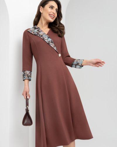 Приталенное нарядное с рукавами платье Charutti