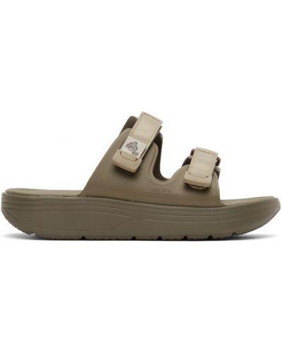 Zielone sandały na rzepy Suicoke