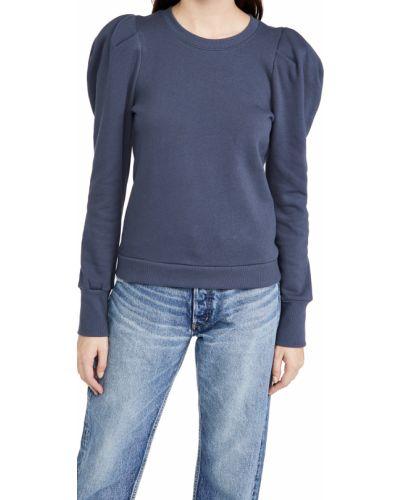 Плиссированный хлопковый длинный свитер с длинными рукавами Nation Ltd