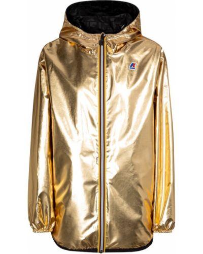 Куртка двусторонняя золотая Fendi