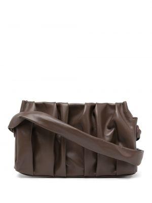Brązowa torba na ramię skórzana Elleme
