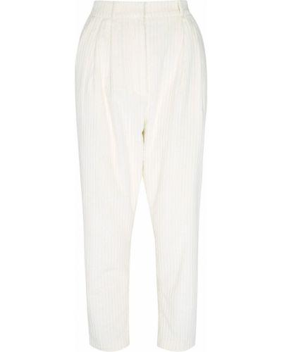 Белые брюки вельветовые свободного кроя A.w.a.k.e.