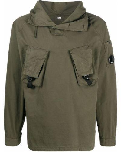 Bawełna prosto anorak kurtka z kapturem z długimi rękawami C.p. Company