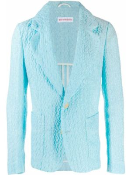 С рукавами синий пиджак винтажный с воротником Walter Van Beirendonck Pre-owned