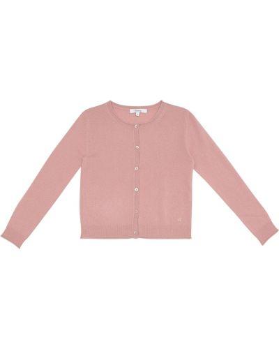 Кашемировый розовый кардиган Bonpoint