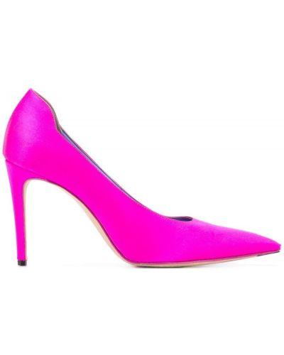 Slipony wysoki różowy Victoria Beckham