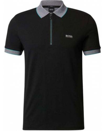T-shirt z printem - czarna Boss Athleisurewear