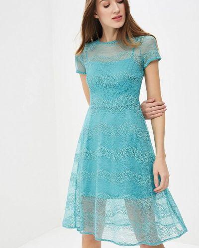 Бирюзовое платье весеннее Zarina