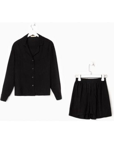 Пижамные шорты - черные Kaftan