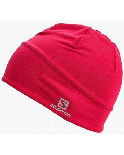 Розовая шапка осенняя Salomon