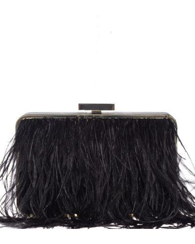 Кожаный клатч - черный Olga Berg