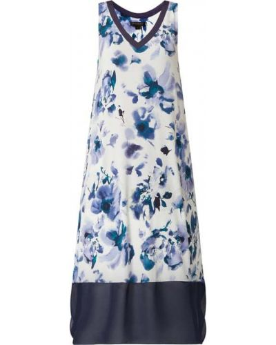 Niebieska koszula nocna bez rękawów z dekoltem w serek Donna Karan