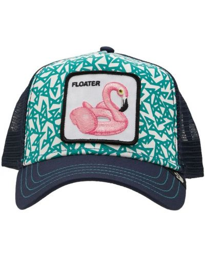 Niebieska czapka z haftem Goorin Bros
