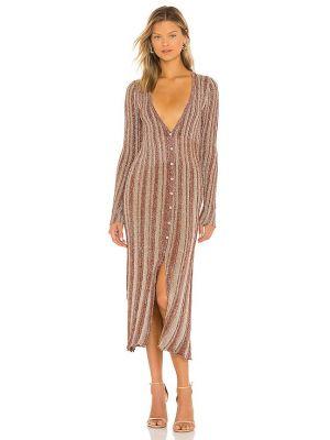 Платье с люрексом Misa Los Angeles