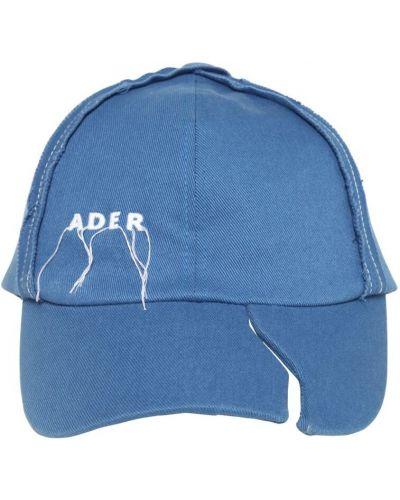 Niebieska czapka z haftem bawełniana Ader Error