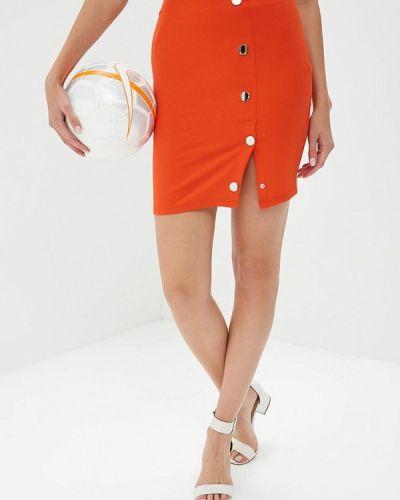 Оранжевая юбка карандаш Naanaa