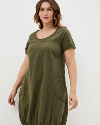 Повседневное зеленое платье Zizzi