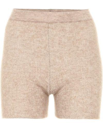 Коричневые шерстяные вязаные короткие шорты Jacquemus