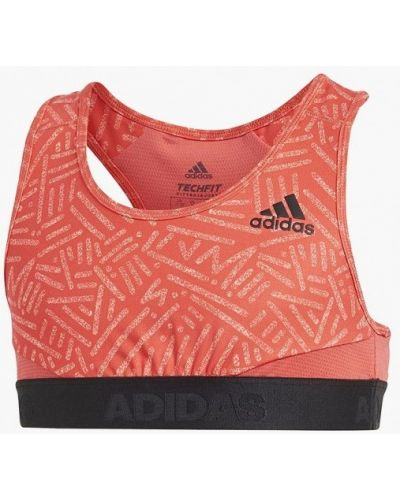 Топ спортивный красный Adidas