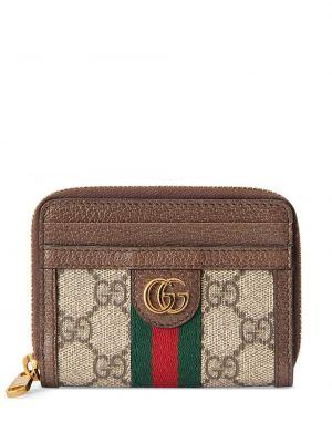 Brązowy portfel skórzany Gucci