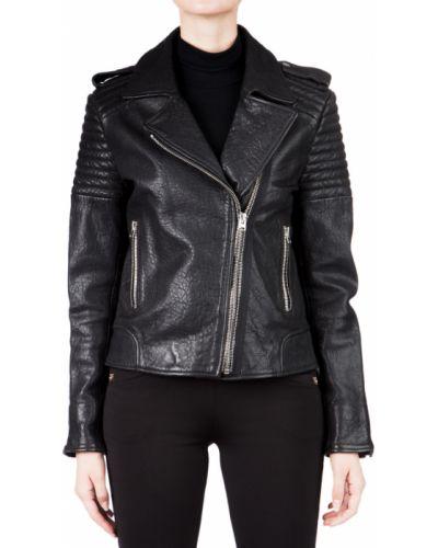 Кожаная куртка - черная Hotel Particulier