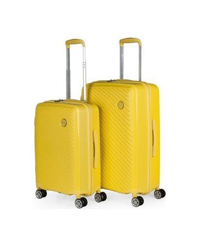 Żółty walizka Itaca