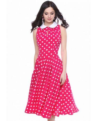 Розовое платье миди Grey Cat