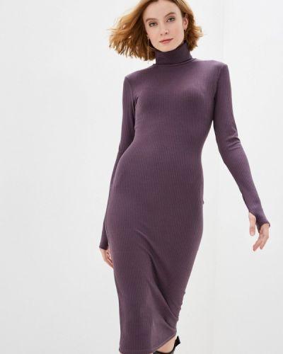 Фиолетовое трикотажное вязаное платье Trendyangel