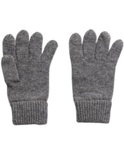 Szare rękawiczki wełniane Gant