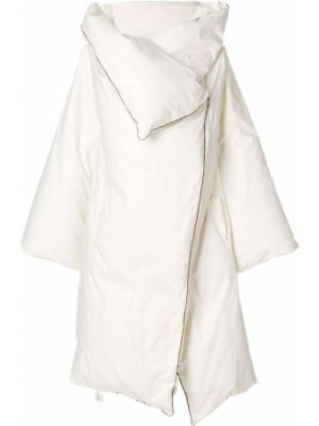 Белое свободное пуховое дутое пальто свободного кроя Maison Martin Margiela Pre-owned