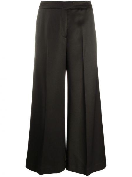Со стрелками черные брюки на молнии из вискозы Pt01