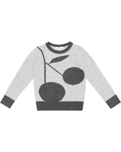 Кашемировый красный свитер Bonpoint