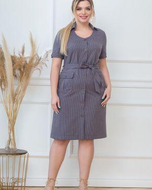 Платье с поясом на пуговицах платье-рубашка Valentina