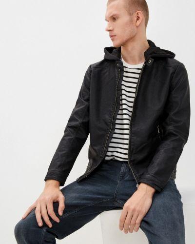 Черная куртка осенняя Colin's