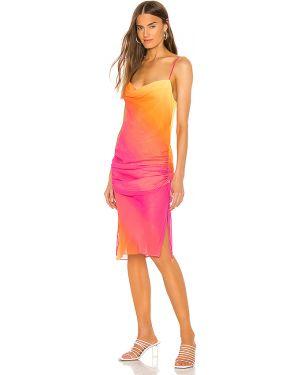 Sukienka midi z paskiem różowa Lovers + Friends